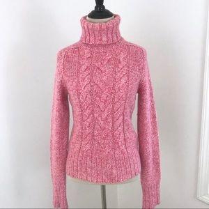 Express Pink Wool/Cashmere Turtleneck Sweater